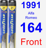 Front Wiper Blade Pack for 1991 Alfa Romeo 164 - Hybrid