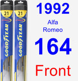 Front Wiper Blade Pack for 1992 Alfa Romeo 164 - Hybrid