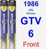 Front Wiper Blade Pack for 1986 Alfa Romeo GTV-6 - Hybrid