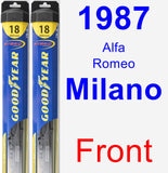 Front Wiper Blade Pack for 1987 Alfa Romeo Milano - Hybrid
