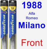 Front Wiper Blade Pack for 1988 Alfa Romeo Milano - Hybrid