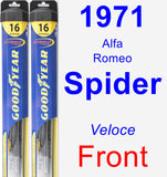 Front Wiper Blade Pack for 1971 Alfa Romeo Spider - Hybrid
