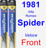 Front Wiper Blade Pack for 1981 Alfa Romeo Spider - Hybrid
