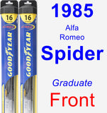 Front Wiper Blade Pack for 1985 Alfa Romeo Spider - Hybrid