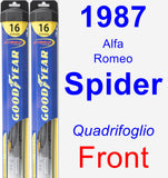 Front Wiper Blade Pack for 1987 Alfa Romeo Spider - Hybrid