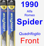 Front Wiper Blade Pack for 1990 Alfa Romeo Spider - Hybrid