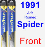 Front Wiper Blade Pack for 1991 Alfa Romeo Spider - Hybrid