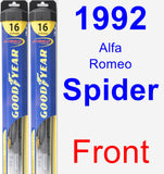 Front Wiper Blade Pack for 1992 Alfa Romeo Spider - Hybrid