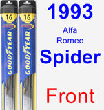 Front Wiper Blade Pack for 1993 Alfa Romeo Spider - Hybrid