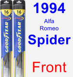 Front Wiper Blade Pack for 1994 Alfa Romeo Spider - Hybrid