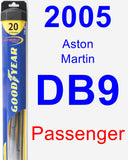 Passenger Wiper Blade for 2005 Aston Martin DB9 - Hybrid
