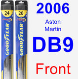 Front Wiper Blade Pack for 2006 Aston Martin DB9 - Hybrid