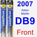 Front Wiper Blade Pack for 2007 Aston Martin DB9 - Hybrid