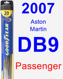 Passenger Wiper Blade for 2007 Aston Martin DB9 - Hybrid