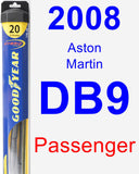 Passenger Wiper Blade for 2008 Aston Martin DB9 - Hybrid
