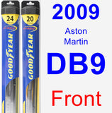 Front Wiper Blade Pack for 2009 Aston Martin DB9 - Hybrid