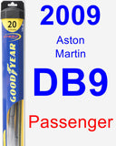 Passenger Wiper Blade for 2009 Aston Martin DB9 - Hybrid