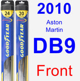 Front Wiper Blade Pack for 2010 Aston Martin DB9 - Hybrid