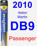 Passenger Wiper Blade for 2010 Aston Martin DB9 - Hybrid