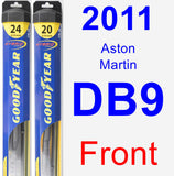 Front Wiper Blade Pack for 2011 Aston Martin DB9 - Hybrid