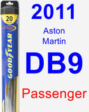 Passenger Wiper Blade for 2011 Aston Martin DB9 - Hybrid