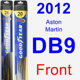 Front Wiper Blade Pack for 2012 Aston Martin DB9 - Hybrid