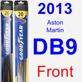 Front Wiper Blade Pack for 2013 Aston Martin DB9 - Hybrid