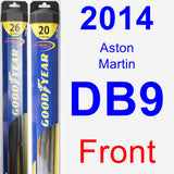 Front Wiper Blade Pack for 2014 Aston Martin DB9 - Hybrid