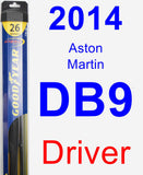 Driver Wiper Blade for 2014 Aston Martin DB9 - Hybrid
