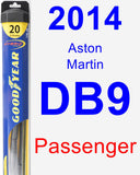 Passenger Wiper Blade for 2014 Aston Martin DB9 - Hybrid