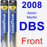 Front Wiper Blade Pack for 2008 Aston Martin DBS - Hybrid