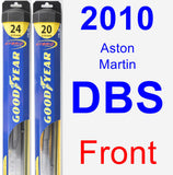Front Wiper Blade Pack for 2010 Aston Martin DBS - Hybrid