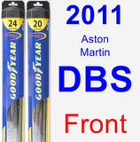 Front Wiper Blade Pack for 2011 Aston Martin DBS - Hybrid