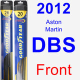 Front Wiper Blade Pack for 2012 Aston Martin DBS - Hybrid