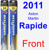 Front Wiper Blade Pack for 2011 Aston Martin Rapide - Hybrid