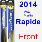 Front Wiper Blade Pack for 2014 Aston Martin Rapide - Hybrid