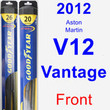 Front Wiper Blade Pack for 2012 Aston Martin V12 Vantage - Hybrid
