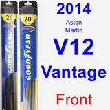 Front Wiper Blade Pack for 2014 Aston Martin V12 Vantage - Hybrid