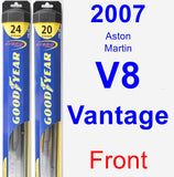Front Wiper Blade Pack for 2007 Aston Martin V8 Vantage - Hybrid
