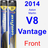 Front Wiper Blade Pack for 2014 Aston Martin V8 Vantage - Hybrid
