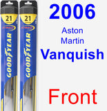 Front Wiper Blade Pack for 2006 Aston Martin Vanquish - Hybrid