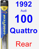 Rear Wiper Blade for 1992 Audi 100 Quattro - Hybrid