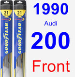 Front Wiper Blade Pack for 1990 Audi 200 - Hybrid