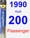 Passenger Wiper Blade for 1990 Audi 200 - Hybrid