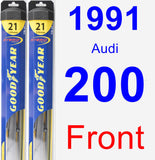 Front Wiper Blade Pack for 1991 Audi 200 - Hybrid