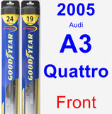 Front Wiper Blade Pack for 2005 Audi A3 Quattro - Hybrid