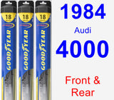 Front & Rear Wiper Blade Pack for 1984 Audi 4000 - Hybrid