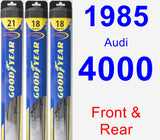 Front & Rear Wiper Blade Pack for 1985 Audi 4000 - Hybrid