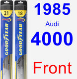 Front Wiper Blade Pack for 1985 Audi 4000 - Hybrid