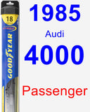 Passenger Wiper Blade for 1985 Audi 4000 - Hybrid